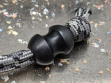 Medium Curvy Delrin (Acetal) Lanyard Bead and a Free Paracord Lanyard