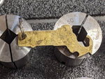 Brass State of Massachusetts key chain with Patina