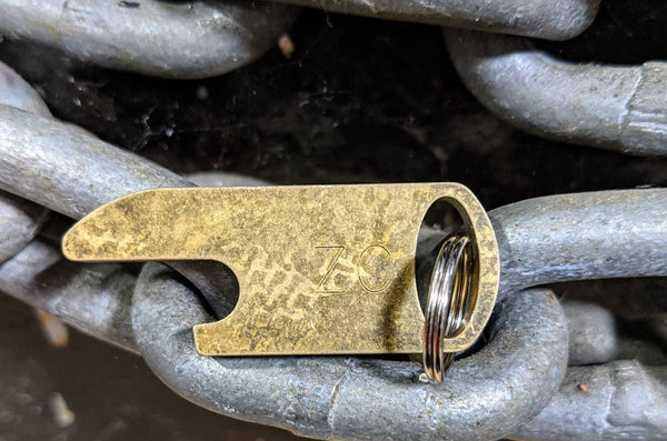 Short Fat Bottle Opener with Patina
