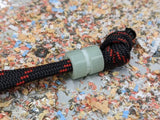 Medium Jade Green G10 Lanyard Bead With One Groove and a Free Paracord Lanyard