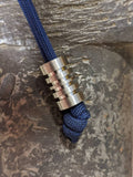 Large Titanium Lanyard Bead with Free Paracord Lanyard