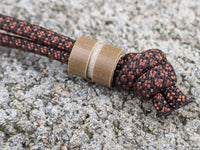 Medium Coyote Tan G10 Lanyard Bead With One Groove and a Free Paracord Lanyard