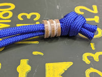 Small Coyote Tan G10 Lanyard Bead with 2 Grooves and a Free Paracord Lanyard