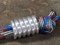 Large Aluminum Lanyard Bead With 5 Grooves and a Free Paracord Lanyard