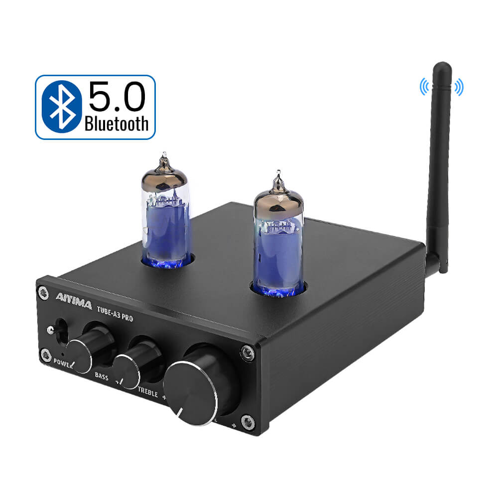 Tube Amplifier Preamp - AIYIMA A3 Pro 6K4 | Bluetooth Amplifier | Subwoofer Amplifier | Class D Amplifier | Hifi Stereo Bass Preamplifier - AIYIMA