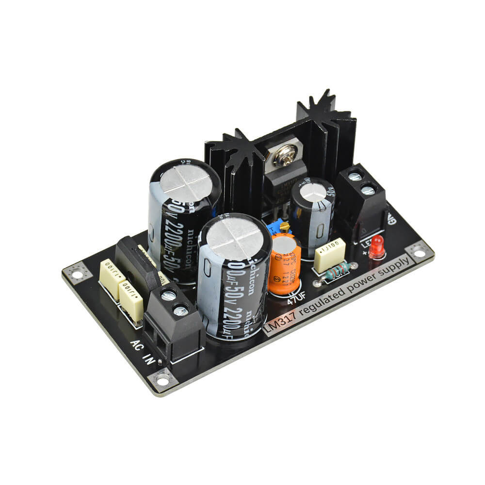 Amplifier Board - AIYIMA B2D767 | LM317 Adjustable Regulated Power Supply Board AC to DC Adjustable Linear Regulator With Rectifier Filter Board - AIYIMA