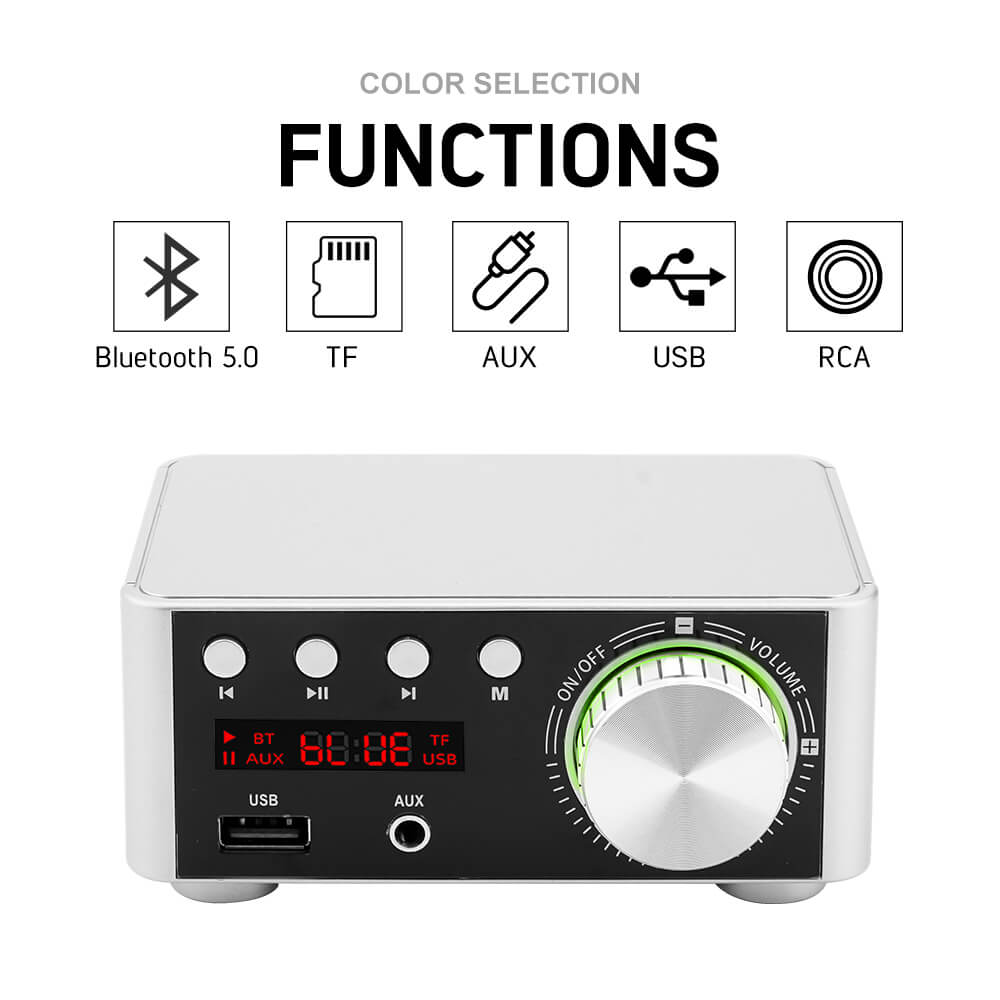 Bluetooth Amplifier - AIYIMA B2D1957 | Sound Amplifier | HIFI Stereo Amplifier | TPA3116 - AIYIMA