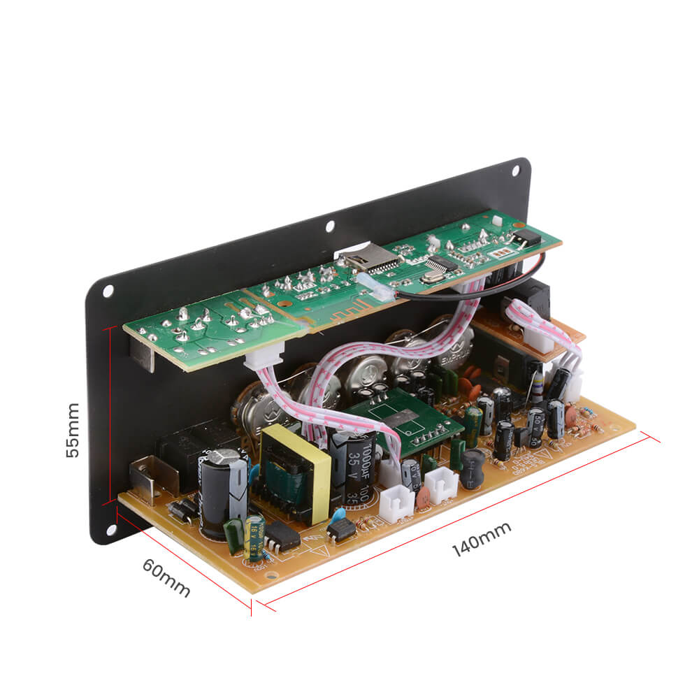 Amplifier Board - AIYIMA B2D1362 | Dual Microphone Karaoke Amplifier | Subwoofer Digital Bluetooth Amplifier Board - AIYIMA