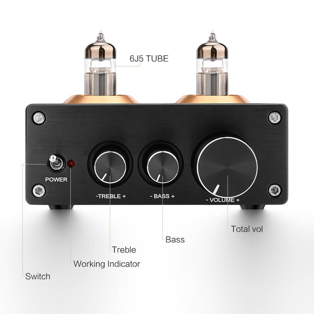 Tube Amplifier Preamp - AIYIMA B2D1832 | Bluetooth Amplifier | Subwoofer Amplifier | Class D Amplifier | Hifi Stereo Bass Preamplifier - AIYIMA