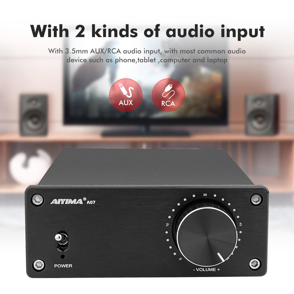 Amplifier - AIYIMA A07 - TPA3255 | 2.0 Channel | 300Wx2 | HiFi - AIYIMA