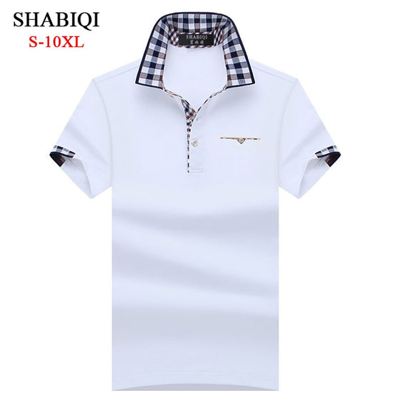 SHABIQI Classic Brand Men shirt Men Polo Shirt Men Short Sleeve Polos Shirt Casual Polo Shirt Plus Size 6XL 7XL 8XL 9XL 10XL