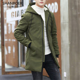 New Winter Jacket men hooded Slim Korean Parka Hombre long Jacket coat cashmere mens windbreaker Parkas cotton Oversized 5XL 22