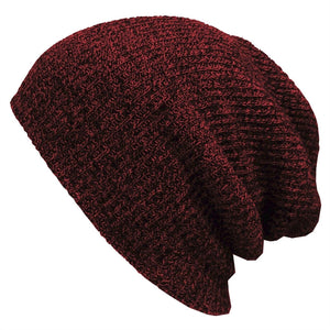 Slouchy Winter Hats Knitted Beanie Caps Soft Warm Ski Hat Men Hip-Pop Beanie Cap