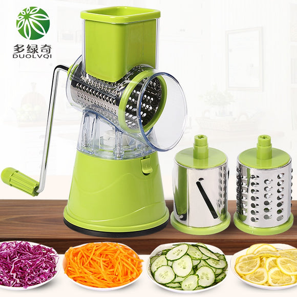 DUOLVQI Manual Vegetable Cutter Slicer Kitchen Accessories Multifunctional Round Mandoline Slicer Potato Cheese Kitchen Gadgets