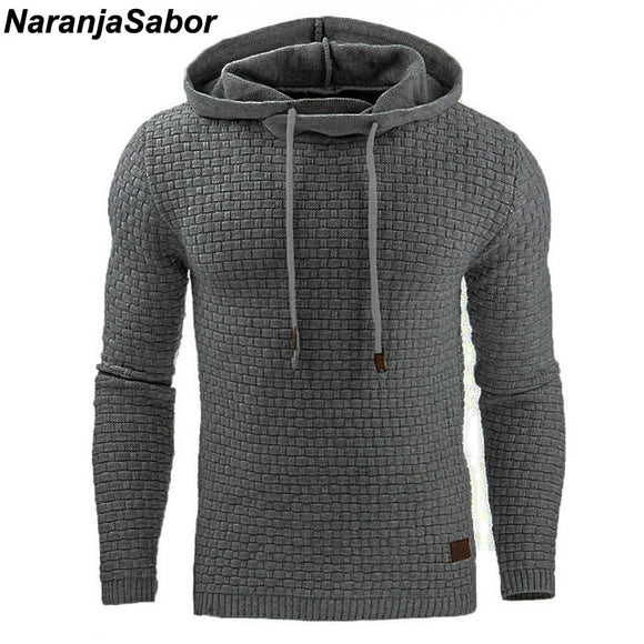 NaranjaSabor Men's Hoodies Slim Hooded Sweatshirts Mens Coats Male Casual Sportswear Streetwear Brand Clothing N461