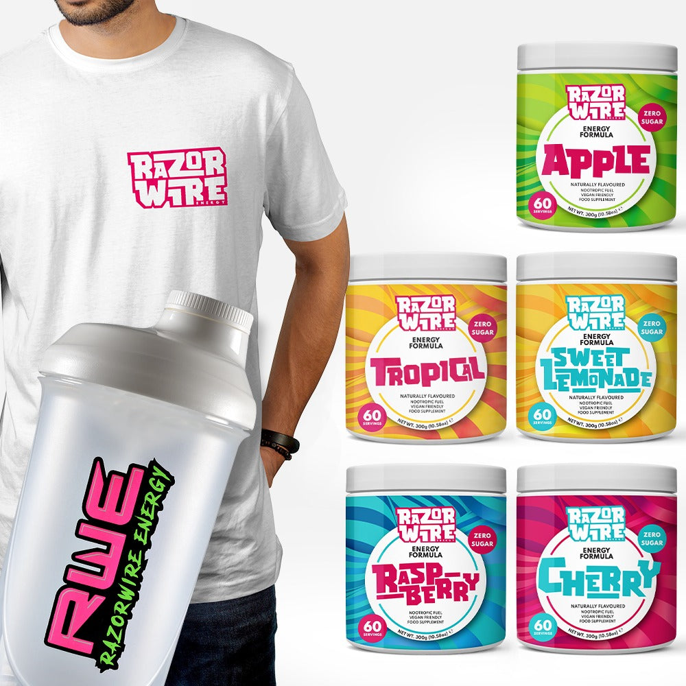 T-SHIRT + SHAKER + TUB BUNDLE