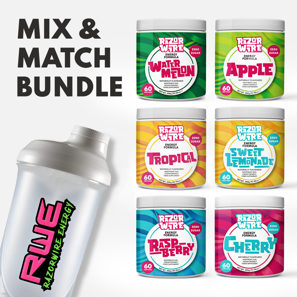 BLACK/WHITE SHAKER + MIX & MATCH TUBS BUNDLE