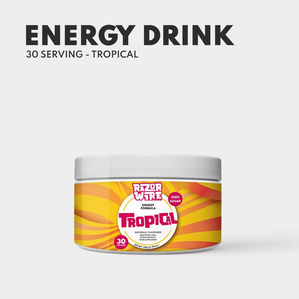 Tropical Naturally Flavoured Energy Drink Formula - Gaming Energy Drink