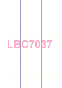 Rectangle A4 Die Cut Labels (square corners)