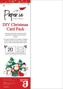 DIY Christmas Card Pack - Prisma Textured Paper