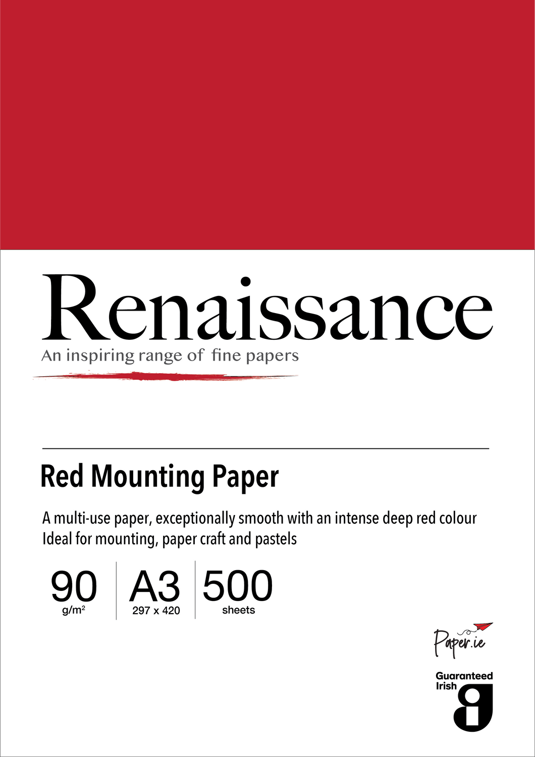 Red Mounting Paper