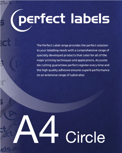 Circular A4 Die Cut Labels