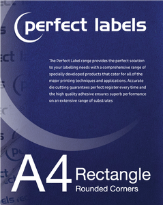 Rectangle A4 Die Cut Labels (rounded corners)