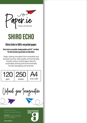 SHIRO ECHO - 100% recycled and carbon neutral paper