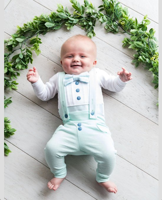 1-4 Years Size mintgreen Baby Boys Christening Oufits Tuxedo Set Baptism Gown Suit