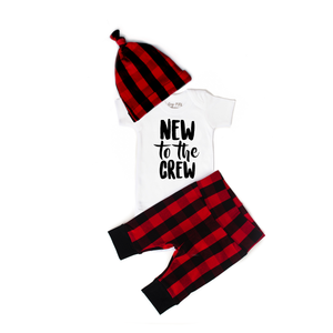 Gigi and Max - New to the Crew Buffalo Plaid Newborn Set Short Sleeve