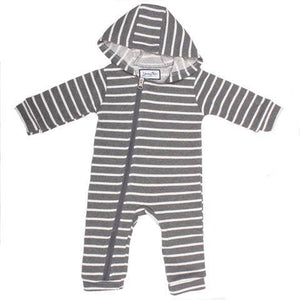 Young and Free Apparel - Cuddlesuit - Grey with White Stripe