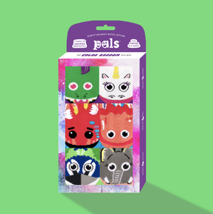 Pals Socks - Color Kaboom Gift Box Sock Set - Ages 4-8y