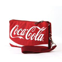 Coca-Cola Script Zippered Nylon Wristlet