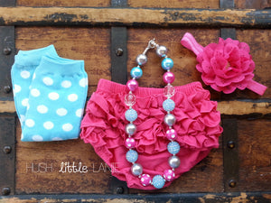 {RUFFLE DIAPER COVER} 6-12m