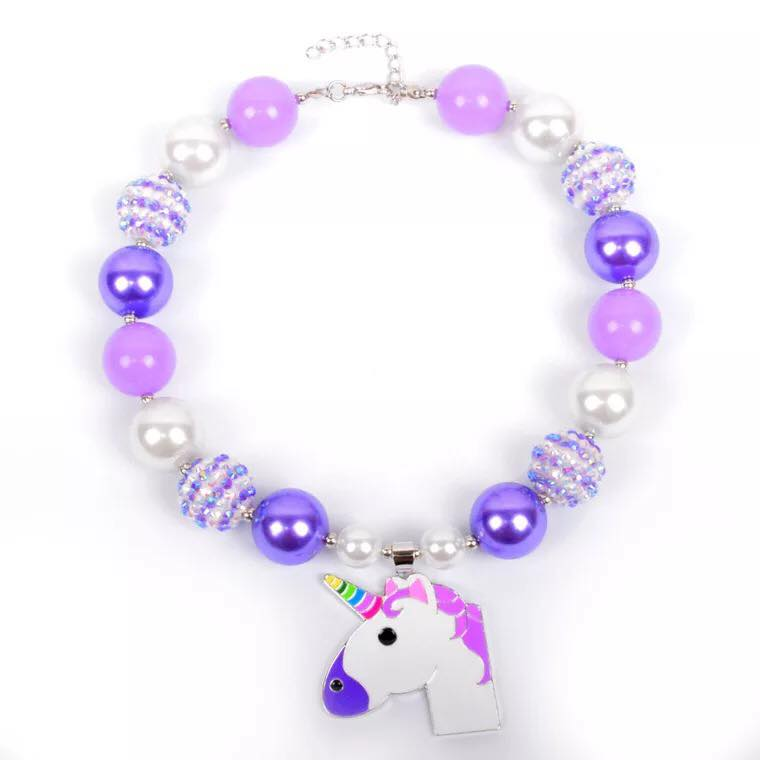 {CHUNKY NECKLACE} Purple Unicorn