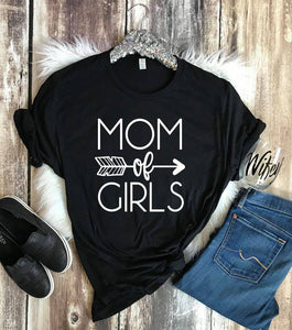 {MOM TEE} Mom of Girls - Vintage Black