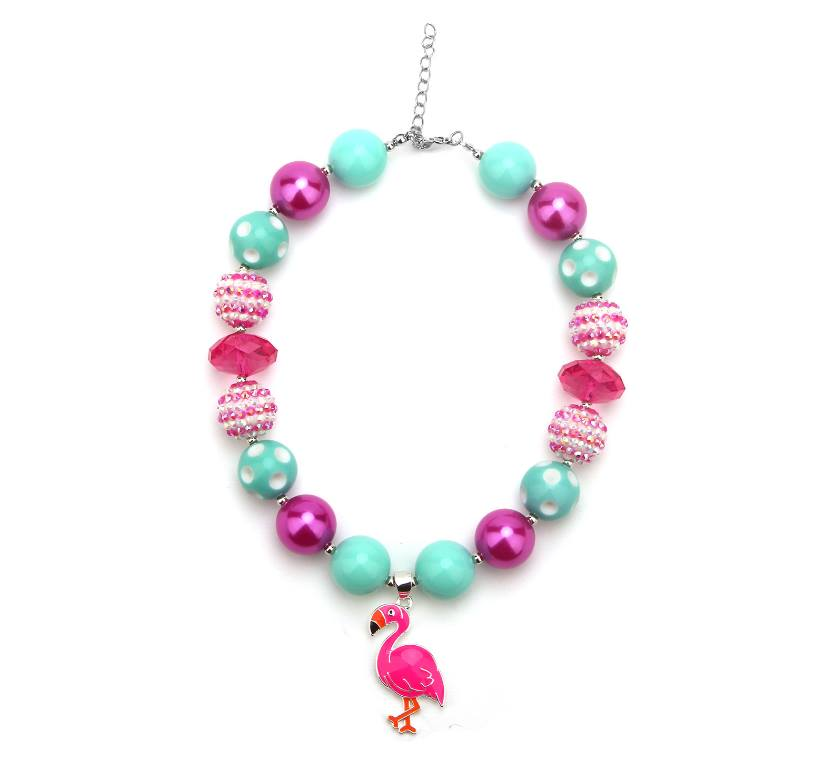 {CHUNKY NECKLACE} Pink Flamingo