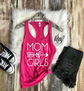 {MOM TEE} Mom of Girls - Berry Pink (not a tank)