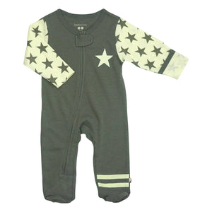 {OUTFIT} Babysoy All Star Zipper Footie - Thunder