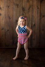 {ROMPER} American Flag (with Knot Headband)