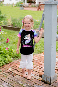 {SHIRT} Unicorn with Rainbow Sleeves