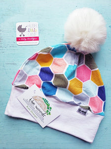 {HAT} Beanie - Large (12m-Teen) Hexagon