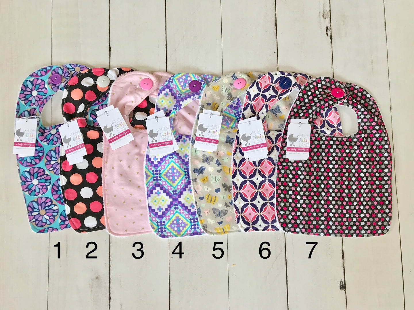 {BIB} Handmade Button Bib - Girls