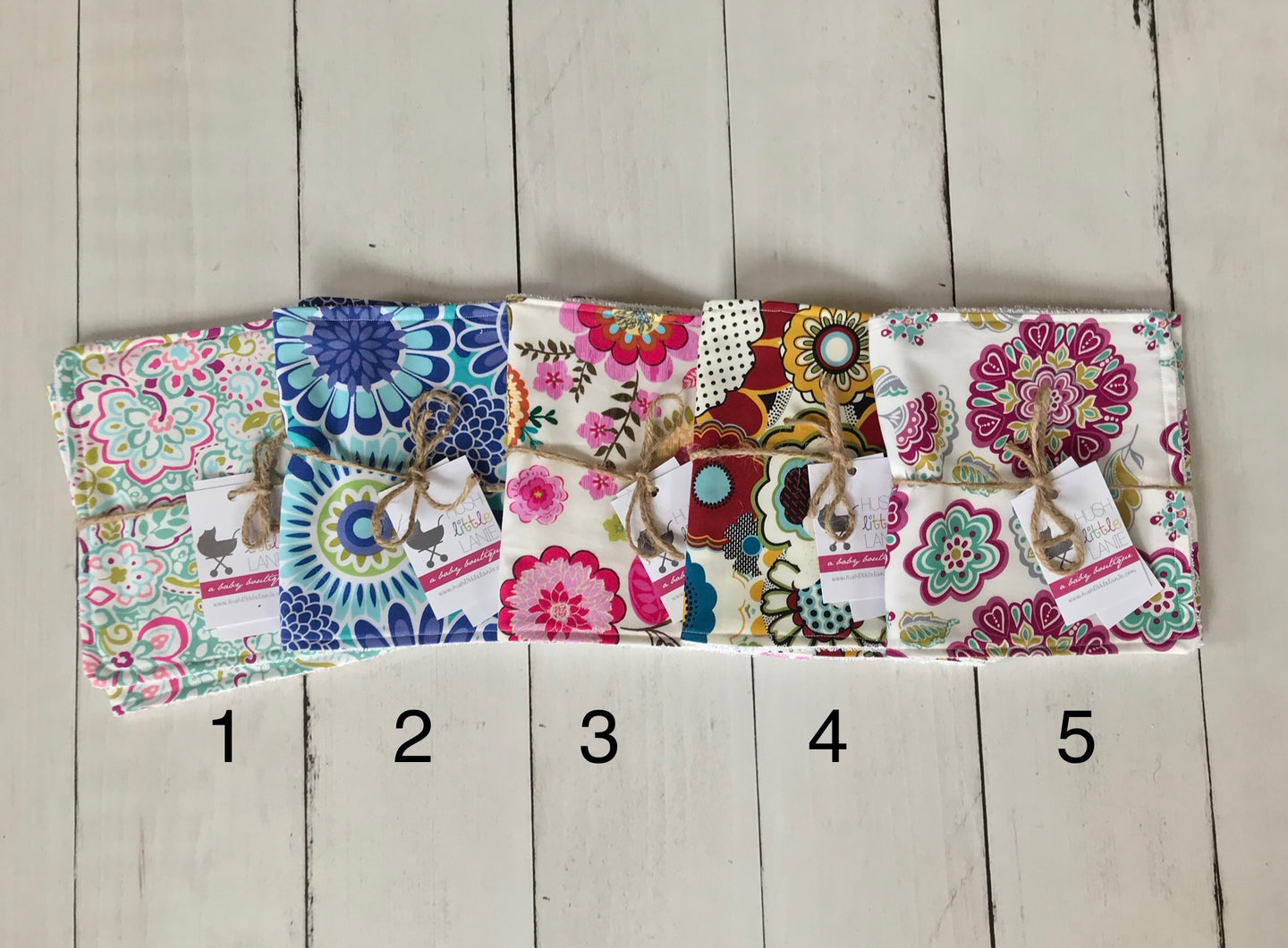 {BURP CLOTH} Handmade - Floral