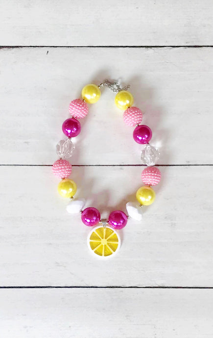 {CHUNKY NECKLACE} Lemon