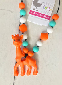 {TEETHER} Silicone Giraffe Teether
