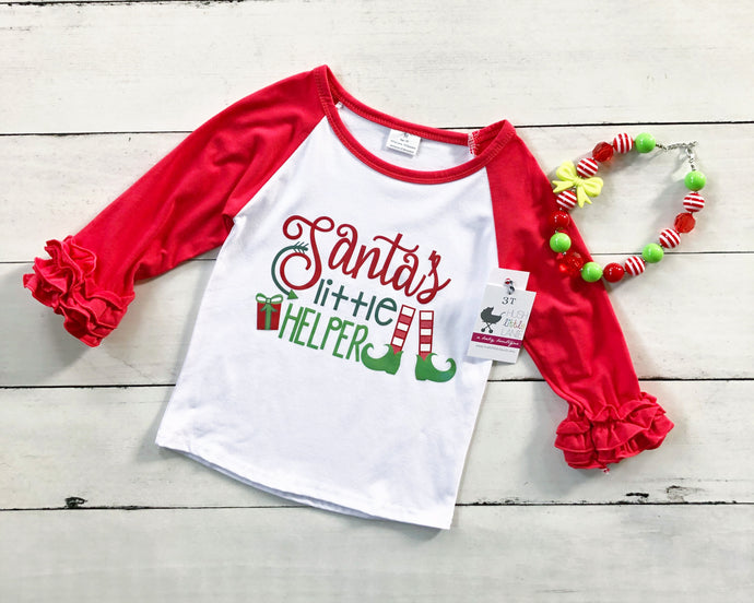 {SHIRT} Santa's Little Helper Raglan