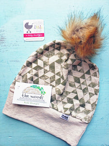 {HAT} Beanie - Large (12m-Teen) Triangle