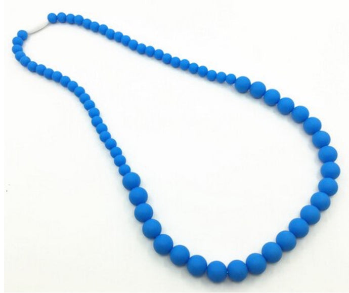 {TEETHER} Silicone Teething Necklace - Blue