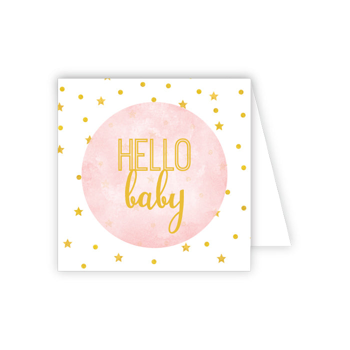 {GIFT TAG} Hello Baby Pink
